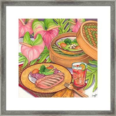 Healthy Dining Framed Print by Tammy Yee