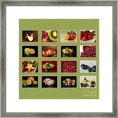 Healthy International Fruits Collection Framed Print by Inspired Nature Photography Fine Art Photography