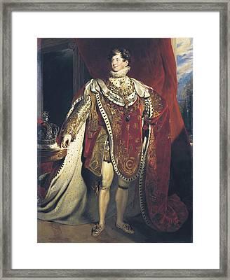 Healy, George 1813-1894. George Iv Framed Print by Everett