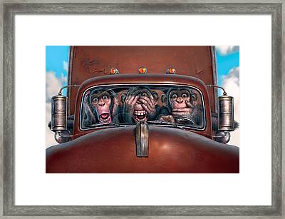 Hear No Evil See No Evil Speak No Evil Framed Print by Mark Fredrickson