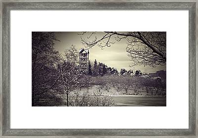 Hear The Carillon Bells Framed Print by Julie Palencia