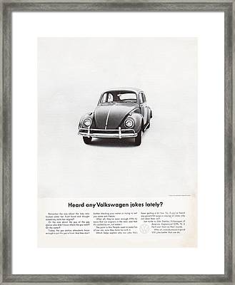 Heard Any Good Volkswagen Jokes Lately Framed Print by Georgia Fowler