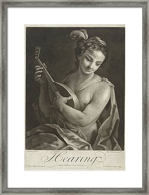 Hearing, Alexander Van Haecken, T. Jefferys Framed Print by Alexander Van Haecken And T. Jefferys And W. Herbert