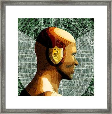 Hearing Protection, Conceptual Artwork Framed Print