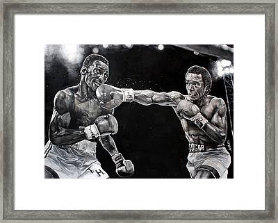 Hearns Vs. Leonard Framed Print by Michael  Pattison