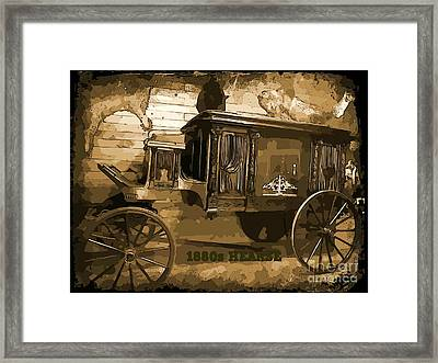 Hearse Poster Framed Print by Crystal Loppie