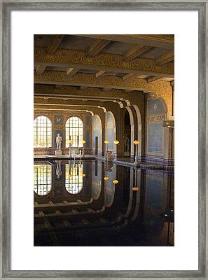 Hearst Castle Roman Pool Reflection Framed Print by Heidi Smith