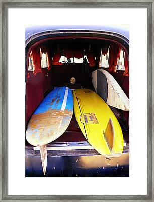 Hearst Skull And Boards Framed Print by Ron Regalado