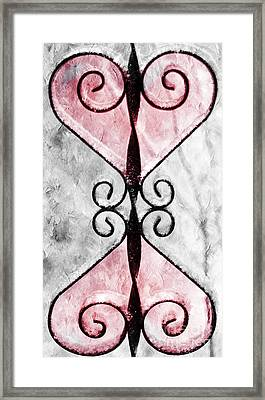 Heart 2 Heart Framed Print by Andee Design