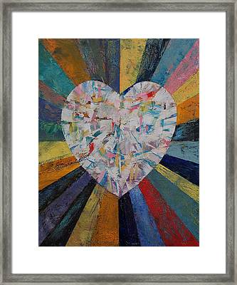 Diamond Heart Framed Print by Michael Creese