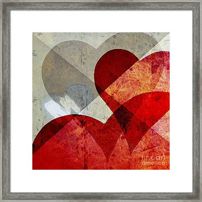 Hearts 8 Square Framed Print by Edward Fielding