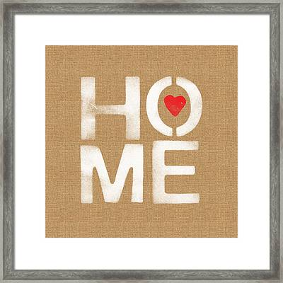Heart And Home Framed Print by Linda Woods