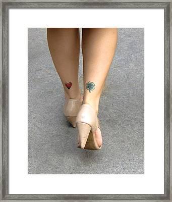 Heart And Shamrock In Sao Paulo Framed Print by Julie Niemela