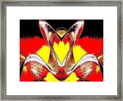 Heart And Shoulders Framed Print