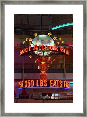 Heart Attack Grill Framed Print by Jim West