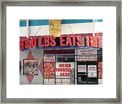 Heart Attack Grill Framed Print by Kay Novy