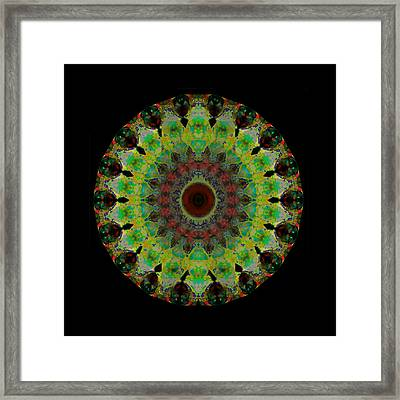 Heart Aura - Mandala Art By Sharon Cummings Framed Print