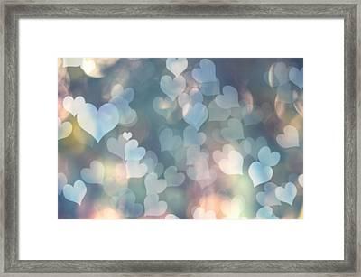 Heart Background Framed Print by Amanda Elwell