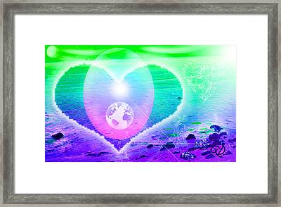 Heart Beach Framed Print