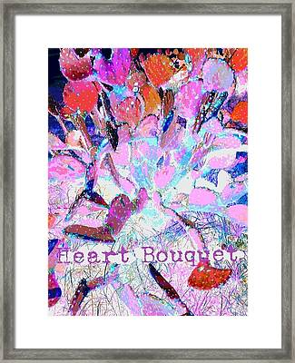 Heart Bouquet  Framed Print by ARTography by Pamela Smale Williams