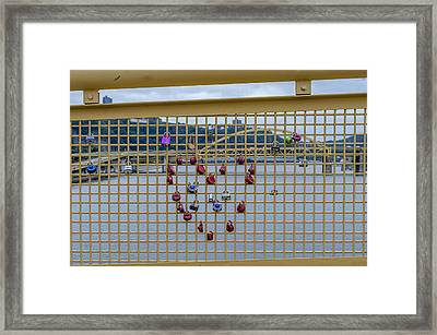 Heart Bridge Pittsburgh Pa Framed Print