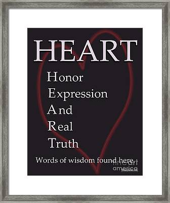 Heart Buseyism By Gary Busey Framed Print by Buseyisms Inc Gary Busey