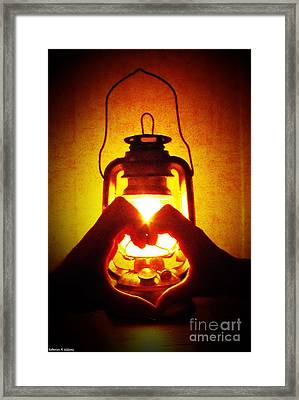 Heart By Golden Light Framed Print by Katherine Williams