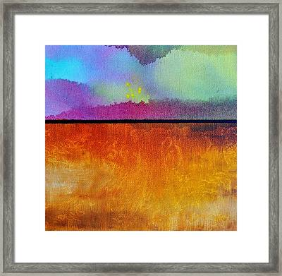 Framed Print featuring the painting Heart Call by Christine Ricker Brandt