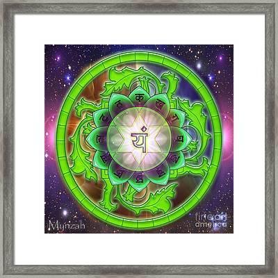 Heart Chakra Anahata  Framed Print