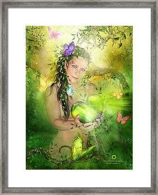 Heart Chakra Goddess Framed Print