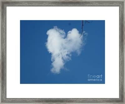 Heart Cloud Bell Rock Framed Print