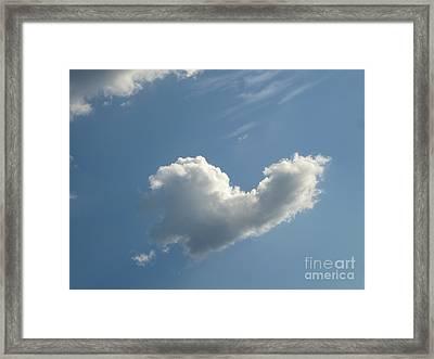 Heart Cloud Sedona Framed Print