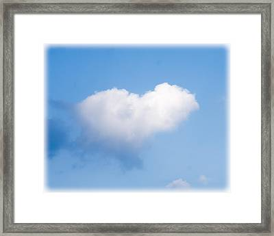 Heart Cloud Framed Print by Shirley Tinkham