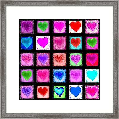 Heart Collage Framed Print by Cindy Edwards