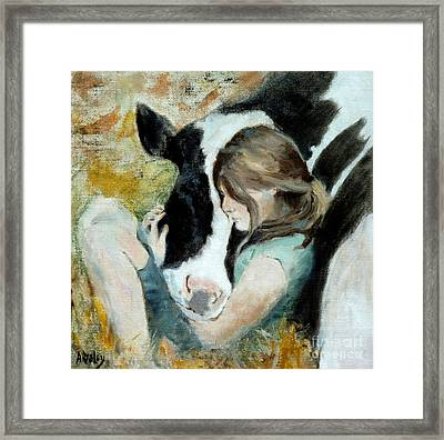 Heart Connection Framed Print by Ann Radley