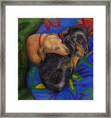 Heart Dogs Framed Print