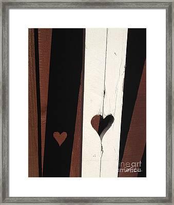 Heart Fence Shadow  Framed Print