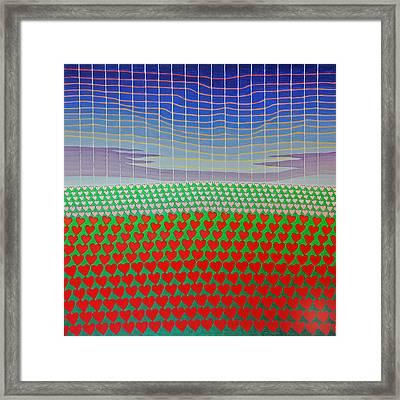 Heart Fields Again Framed Print