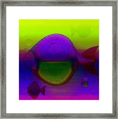 Heart Fish Framed Print by Constance Krejci