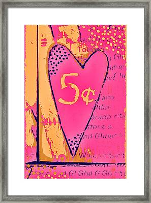 Heart Five Cents Framed Print
