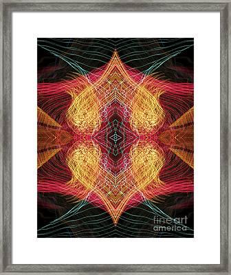 Heart Flames Joined Framed Print