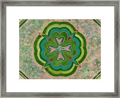 Heart Flower Framed Print