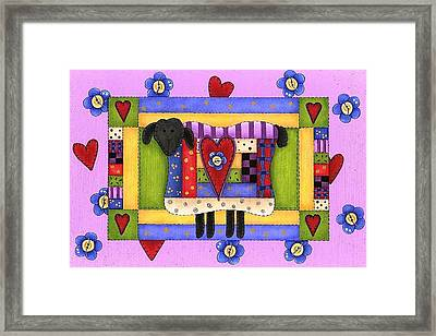 Heart For Ewe Framed Print