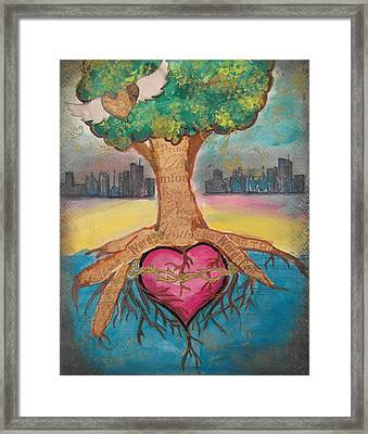 Heart For The City Framed Print by Debbie Hornsby