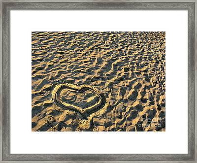 Heart For Valentine's Day Framed Print by Daliana Pacuraru
