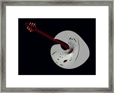Heart Guitar Framed Print
