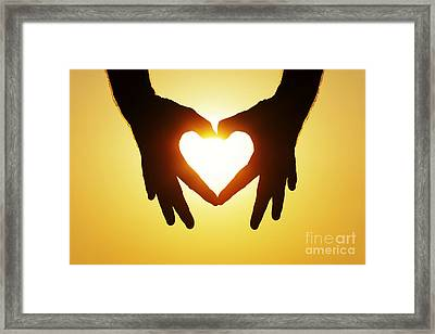 Heart Hands Framed Print by Tim Gainey
