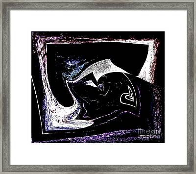 Heart Hanging On Framed Print by Annie Zeno