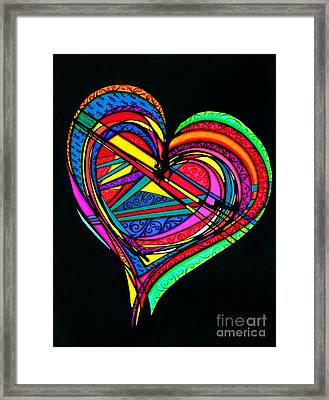 Heart Heart Heart Framed Print