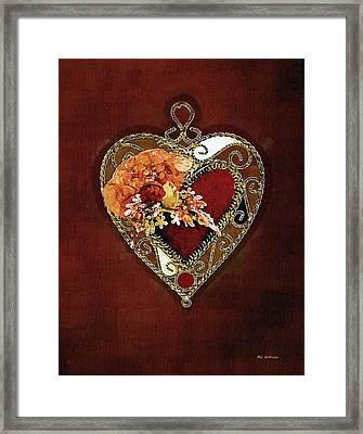 Heart In Bloom Framed Print